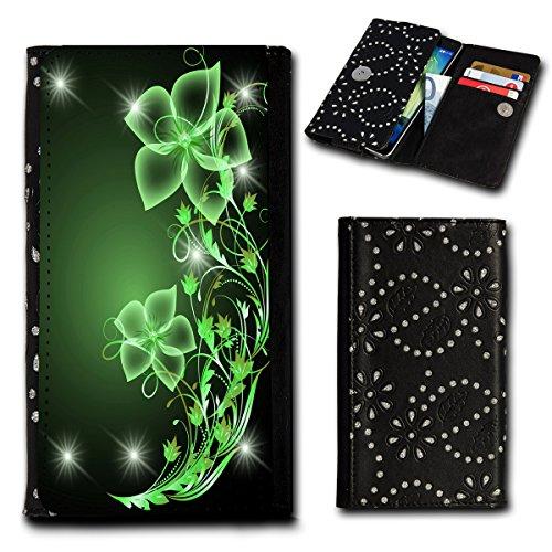 Strass Book Style Flip Handy Tasche Case Schutz Hülle Foto Schale Motiv Etui für Mobistel Cynus F9 - Flip SU4 Design3