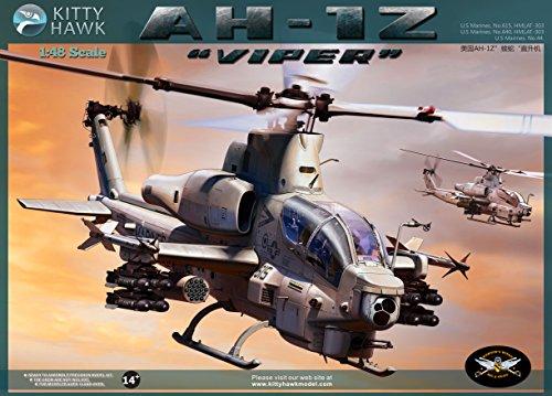 Kitty Hawk KH80125 1:48 AH-1Z Viper Helicopter [MODEL BUILDING KIT]