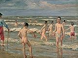 Kit de pintura para adultos Max Liebermann famosa pintura de baño para niños por número en lienzo para principiantes