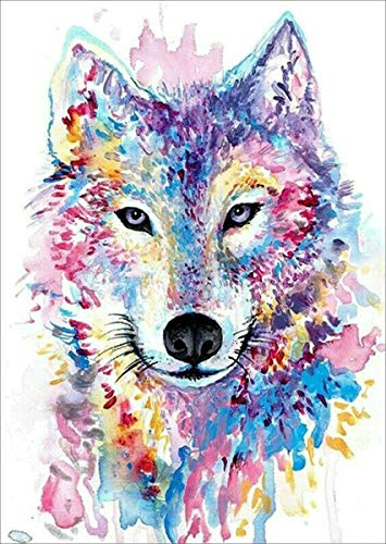 BELLCAT Wolf Diamond Painting- Diamond Painting Kits, Full Coverage, Round Rhinestone, DIY Tool Kit Art Supplies- Fun Gifts for Adults&Children, Craftwork for Indoor Décor(12'x16')