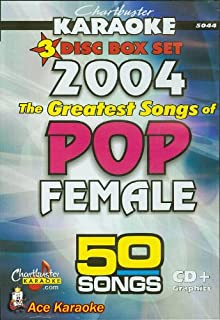 Chartbuster Karaoke CDG CB5044 The Greatest Songs of Pop Female 2004