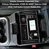 EDBETOS Center Console Organizer Tray for 2019-2020 Chevy Silverado 1500/GMC Sierra 1500 Accessories and 2020 Chevy Silverado/GMC Sierra 2500/3500 HD Armrest Box - Full Console w/Bucket Seats ONLY