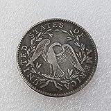 MOMOKY Copy 1794 Flowing Hair US Half Dollar Antique Commemorative Coin-America Liberty&Eagle 50 Cents Collection Coin Morgan Silver Dollar Replica Discovery Collection