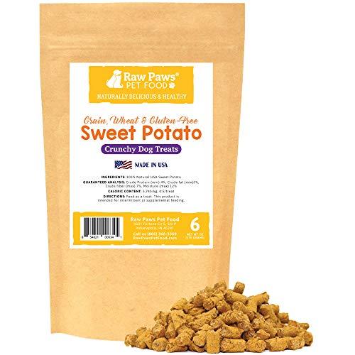 Raw Paws USA Natural Sweet Potato Dog Treats,...