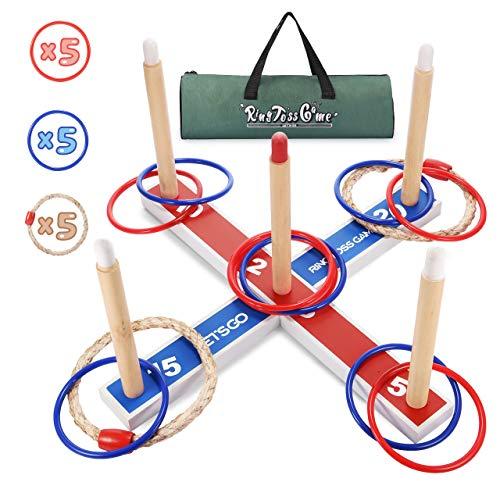 LetsGO toyz Kinderspiele ab 3-12 Jahren, Wurfspiele für Draußen Spielzeug ab 3-12 Jahren für Jungen Geschenke Spielzeug Junge Mädchen 3-12 Jahre Outdoor Spiele für Kinder 3-12 Jahre