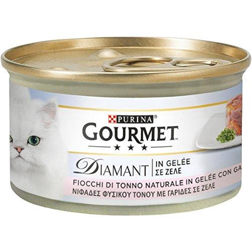Gourmet Diamant Copos de Tonno, Gelée con camarones de 85g,24Piezas