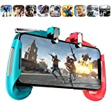 MODERN IN 2 in 1 Mobile Remote Controller Gamepad Holder Handle Joystick Triggers for PUBG L1 R1 Shoot Aim Button for iOS and Android