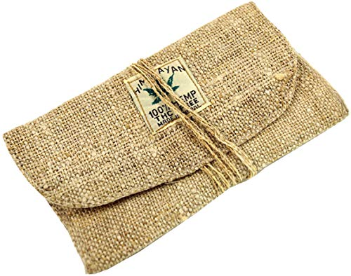 Guru-Shop Hanf Tabakbeutel, Tabaktasche, Drehtasche - Natur, Herren/Damen, Beige, Size:One Size, 10x18 cm, Stifttaschen & Tabakbeutel
