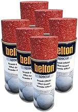 Belton - 6 botes de spray de efecto granito rojo de 0,4 l para pinturas decorativas en piedra