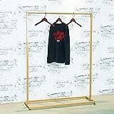Estante de exhibición de ropa, riel de ropa pesado, estante de riel industrial, nano oro/soporte de carga fuerte/gran capacidad/con patas antideslizantes, para la gestión de la ropa/dora