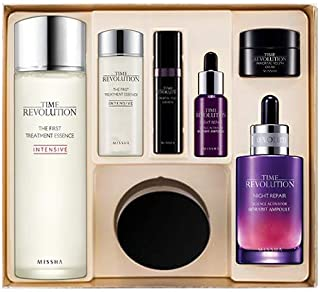 MISSHA Time Revolution Best Seller Special Set II - Essential day and night Kbeauty Missha skincare best sellers all in one kit for healthy and radiant complexion