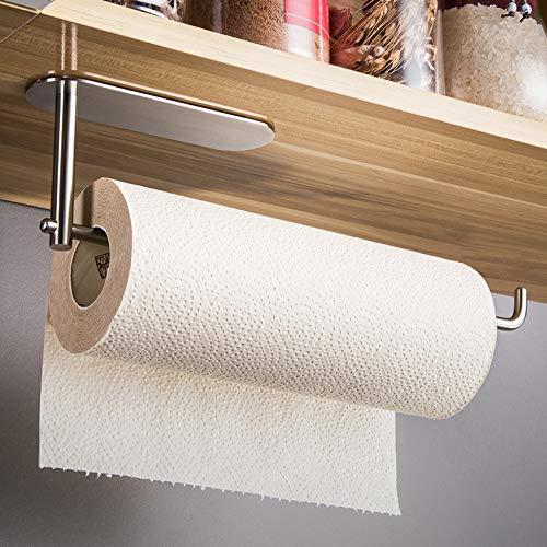 RUICER Küchenrollenhalter Edelstahl Küchenpapierhalter Ohne Bohren Papierrollenhalter Küche