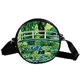 Bennigiry Monet - Bolso de mano para mujer, diseño de lirios acuáticos
