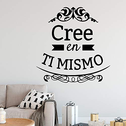 Words Decoraciones para el hogar Pvc para habitación de niños Vinilos decorativos azules XL 57cm X 58cm