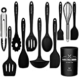 Kitchen Utensil Set-12 Pieces Cooking Utensils-Silicone Kitchen Utensils -Umite Chef Nonstick...