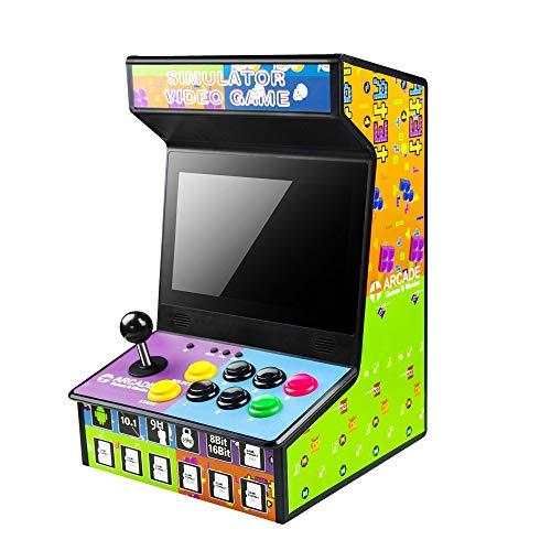 NWSAC 10.1 Pulgadas LCD Mini Juego de Arcade Arcade vídeo Rocker portátil Retro Consola de Juegos de Consola Compatible con Multi-Plataforma for Infantil y Adulto cumpleaños