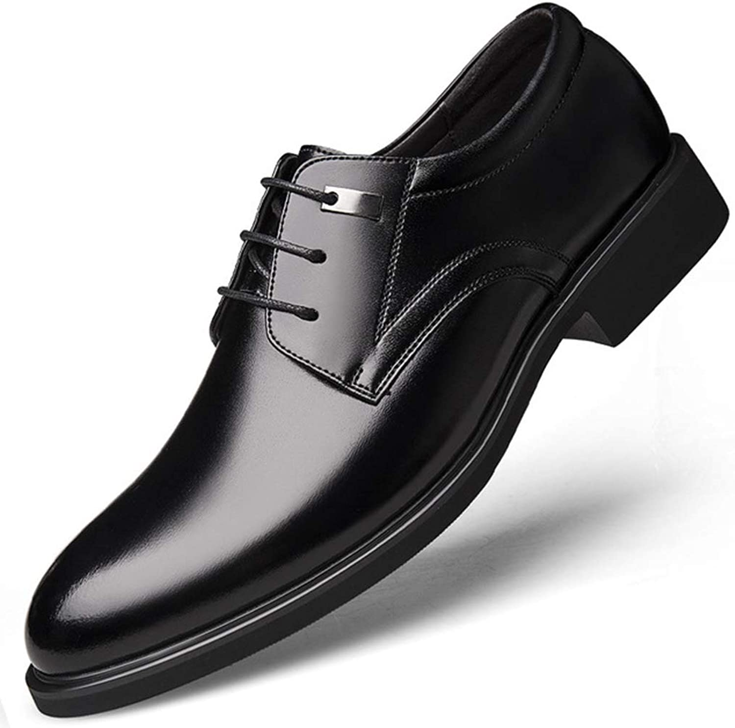 Men's Summer Formal shoes Business Dress shoes Hollow Breathable Glued Soles Footwear with A Pedal Casual Slim Fit Round Head for Men Office shoes