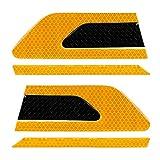 YL 2 PC/sistema reflexiva del coche pegatinas de seguridad Advertencia tira de cinta auto de choque auto de la puerta de la decoración de la etiqueta engomada del coche-estilo (Color : Yellow)
