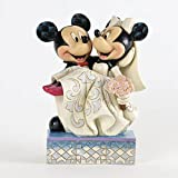 Disney Enesco Tradition - Figurilla de Mickey Mouse y Minnie, de Resina, Altura de 17 cm, Multicolor