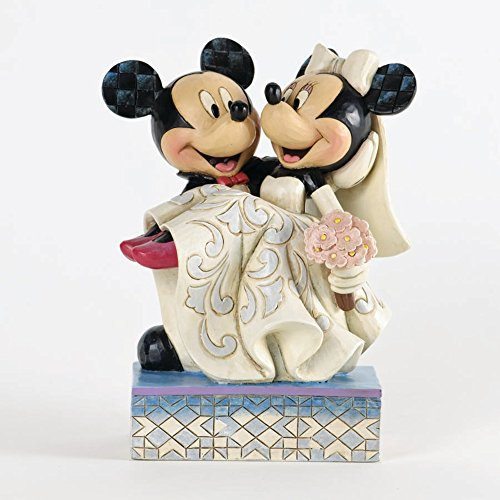 Disney Tradition 4033282 Topolino & Minnie Resina, Design di Jim Shore, 17 cm
