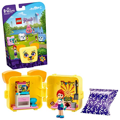LEGO Friends Mia's Pug Cube 41664 Building Kit; Pug Toy Creative Gift for Kids with a Mia Mini-Doll Toy; Dog Toy is The Perfect Present for Kids Who Love Portable Playsets, New 2021 (40 Pieces)