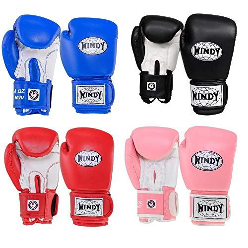 WINDY Klassische Kinder-Boxhandschuhe für Muay Thai, Sparring, MMA, 170 g, 227 g, Sport & Outdoor, rot, 170,1 g (6 oz)