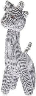 Beba Bean Knit Giraffe Rattle Grey