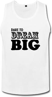 メンズ プライベートカスタム Dream Big ドリーム ビッグ タンク 体に合う White