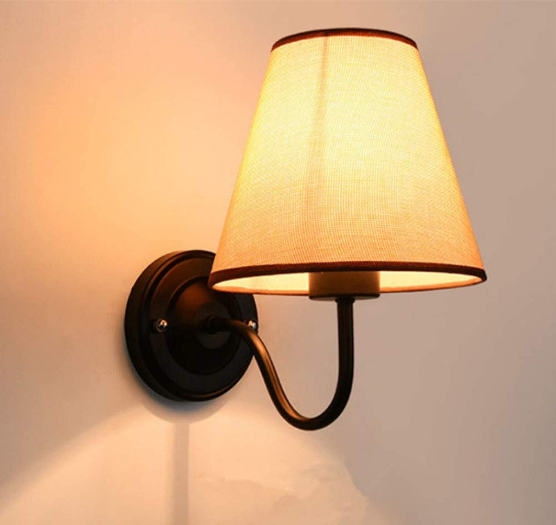 LIUJINHAI Moderne LED Wandleuchte E27 90-260 V Nacht Schlafzimmer Stoff Wandleuchte leuchte Gang Flur badezimmerspiegel Lampe