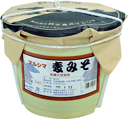マルシマ 業務用 麦みそ<4kg>ポリ樽入