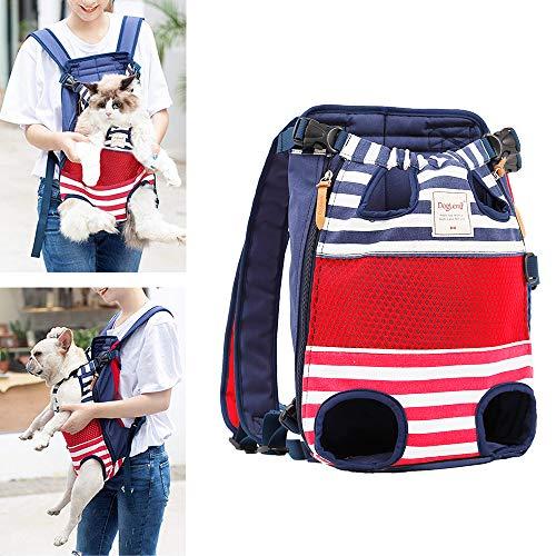 Lampop Haustier Rucksack Hundeträger Verstellbare Sichere Katze Hund Rucksäcke Fronttaschen leichte Kopf Beine Schwanz aus für Reisen Camping Wandern bis 12kg