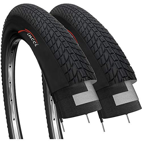 Fincci Par 20 x 1,75 Pulgadas 47-406 Cubiertas para BMX o Niños Bici Bicicleta (Paquete de 2)