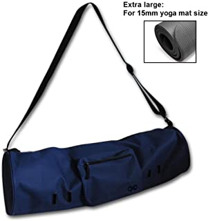 """YogaAddict Large Yoga Mat Bag and Carriers Compact with Pockets, 28""""x8"""" & 29""""x11"""" Long, Fit Most Mat Size, Extra Wide, Adj..."""