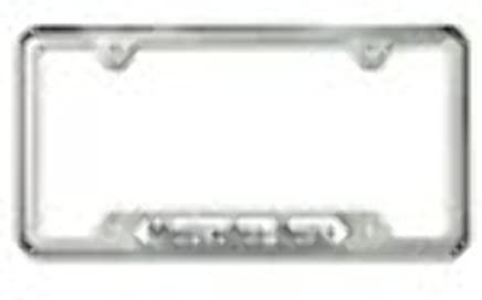 Mercedes Benz Genuine Polished Stainless Steel License Plate Frame
