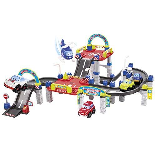 Jouets Ecoiffier – 3049 - Grand Circuit Abrick – Jeu de construction pour enfants – Dès 18 mois – Fabriqué en France