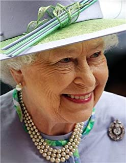 QUEEN ELIZABETH II GLOSSY POSTER PICTURE PHOTO england great britain uk hat