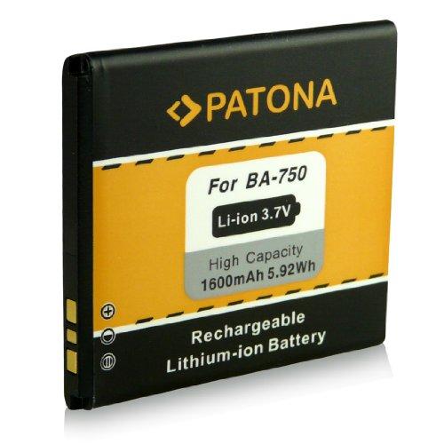 PATONA Akku BA-750 kompatibel mit Sony Ericsson Xperia Arc (LT15i) Arc S (LT18i)