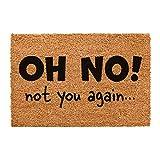 CKB LTD® NOT YOU AGAIN Novelty DOORMAT Unique Doormats Front/Back Door Mats Made with a non-slip PVC backing - Natural coir - Indoor & Outdoor
