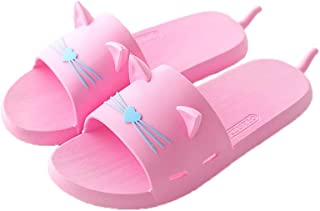 YAXY Fashion Quick Drying Non-Slip Slippers, Bathroom House and Pool Sandals, in-Door Slipper for Gym, Lovely Multifunction Shower Slippers Soft Sole Open Toe House Slippers for Men and Women