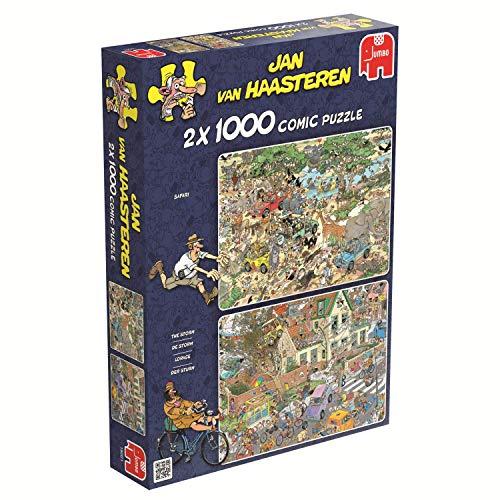 Jumbo 617461 Puzzle 2 x 1000 Safari e La tempesta