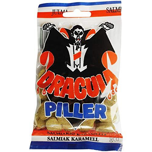 Dracula Piller Hot Salmiakki Candy 3 Packs of 65g