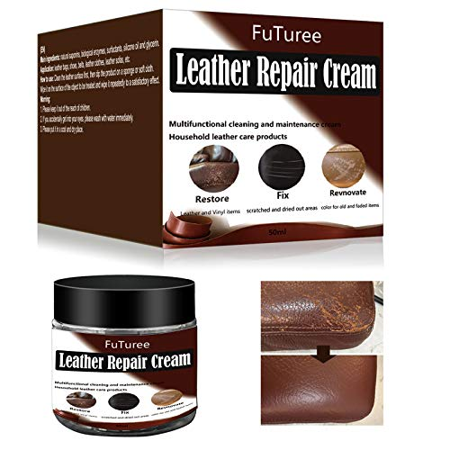 Leather Repair Cream,Leather Restorer,Leather Repair Kit,Brown Leather Recoloring Balm for Renewing,Repairing & Restore Aged, Faded, Peeling and Scratched Couches, Sofa,Car Seats, Furniture,Shoes