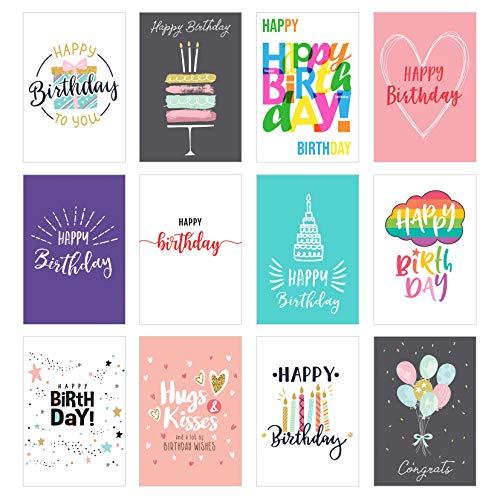 Edition Seidel Set 12 exklusive Geburtstagskarten mit Umschlag. Glückwunschkarte Grusskarte zum Geburtstag. Geburtstagskarte Karte Mann Frau Happy Birthday Card