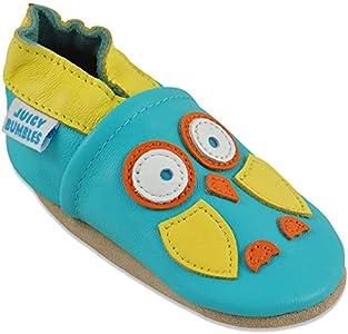 Zapatos Bebe Niña - Zapatillas Niña - Patucos Primeros Pasos - Búho Verde 6-12 Meses