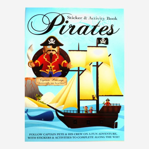 Kids Fun Sticker & Activity Book - Pirates