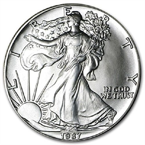 1987-1 Ounce American Silver Eagle Low Flat Rate Shipping .999 Fine Silver Dollar Uncirculated US Mint
