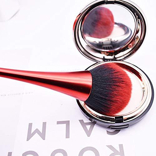 Brosse de maquillage Brosse pour visage en poudre Beito1 PC Brosse cosmétique à poils ultra-doux pour créer une peau lisse, même pour le fard à paupières Foundation Blush Foundation (Noir)