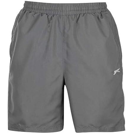 Mens 2 Pockets Mesh Briefs Woven Shorts Pants Bottoms (X-Large, Charcoal)
