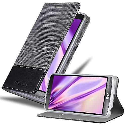 Cadorabo Funda Libro para LG G3 en Gris Negro - Cubierta Proteccíon con Cierre Magnético, Tarjetero y Función de Suporte - Etui Case Cover Carcasa