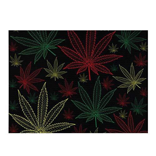 Alfombrilla de secado de platos, marihuana, cannabis, absorbente, de microfibra, reversible, protector para encimera de cocina, 30,5 x 40,6 cm